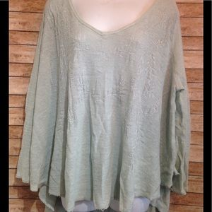 free people crochet Womens Blouse top size s