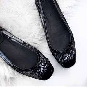 Stuart Weitzman Shoes - Stuart weitzman lace and patent leather flats
