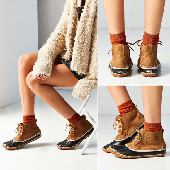 brand new 77f8b 42916 Sorel Out N About Leather Duck Boot