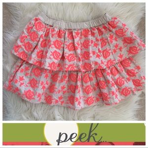 Peek Other - Embroidered Floral Skirt