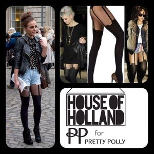 House of Holland Accessories - HOUSE OF HOLLAND GARTER TIGHTS