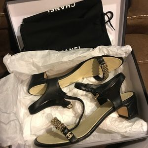 Authentic Chanel Reissue Chain Sandals