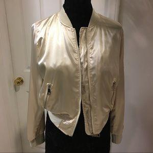 36 Point 5 Jackets & Blazers - Gorgeous Blush satin bomber jacket!