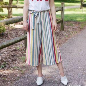 Brand new Zara multiple color stripe trouser!