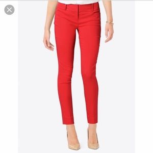 The Limited Pants - Limited Size 4 exact stretch red skinny ankle pant