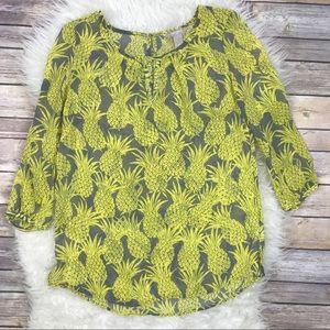 Banana Republic Tops - Banana Republic Pineapple Sheer Blouse