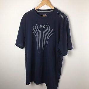 Under Armour Other - Men's Under Armour Navy Blue Heat Gear T Shirt