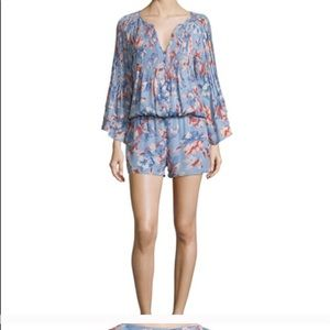 Joie floral silk romper Neiman Marcus xsmall