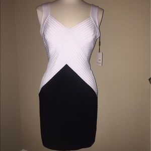 Calvin Klein Collection Dresses & Skirts - White back contrast mini dress size 10P