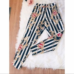 Vtg90s Striped Crown Mom HighWaist Jeans S