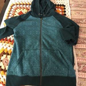 Prana Tops - Prana teal zip up sweater