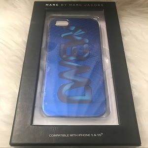 Marc by Marc Jacobs Metallic Blue IPhone 5 Case