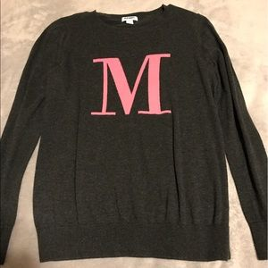 "Old Navy ""M"" Sweater"