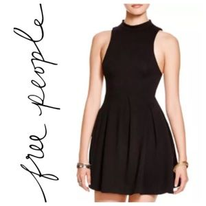 Free People Black cut out open back party dress M