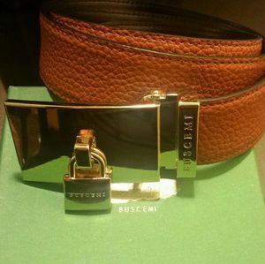 Buscemi Other - 100mm Buscemi padlock-buckle leather belt