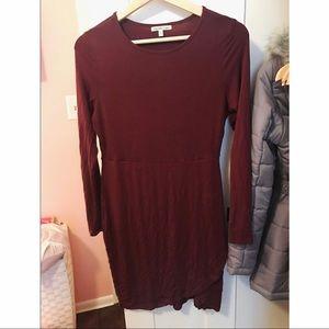 Charlotte Russe long sleeved t shirt dress