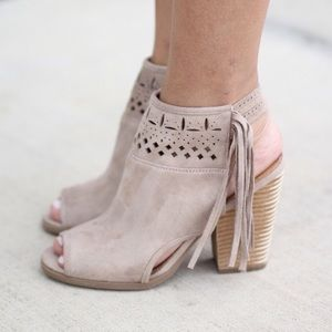 Not Rated Shoes - not rated • cutout fringe booties