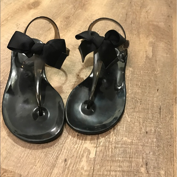bd0beeb50764 BCBG Shoes - BCBG Beena Black Jelly Sandals