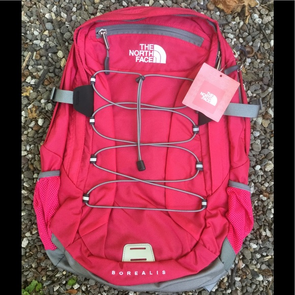 516964537b08 North Face W Borealis Backpack Bookbag NEW Rose NWT