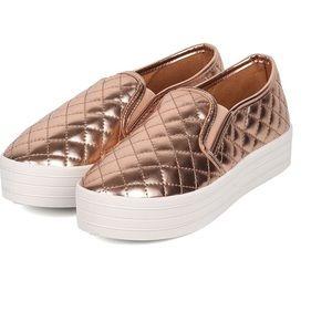 Breckelles Shoes - ROSE GOLD platform shoes🎀