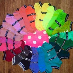 PINK Victoria's Secret Accessories - 24 pairs! Victoria's Secret pink ankle socks