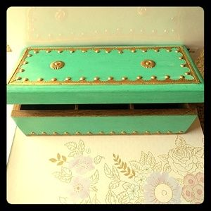me Jewelry - $💙💙 Must have turquoise, brass and wood box 💙💙