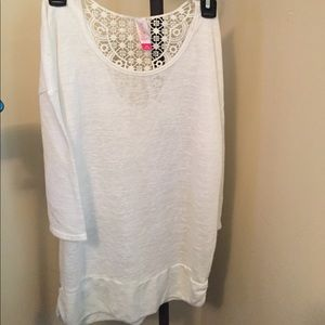 No Boundries Tops - No Boundries Lace Back 3/4 Sleeve Size Large New