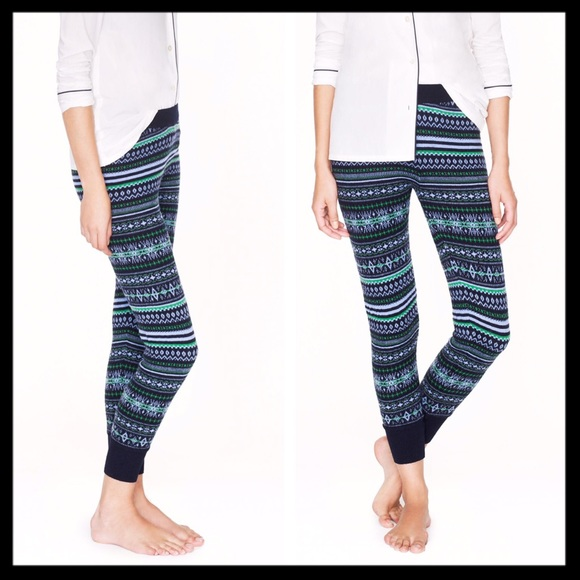 73% off J. Crew Pants - j. crew // 100% merino wool fair isle ...