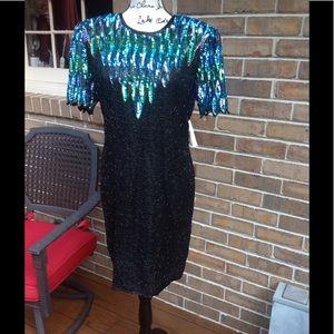 Vintage Stenay sequined dress
