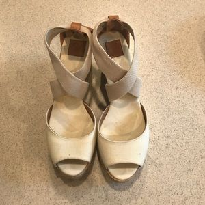 Tory Burch Shoes - Cream authentic Tory Burch wedges