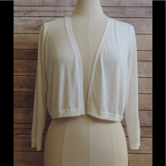 Talbots - NWT TALBOTS Large White Cropped Cardigan Sweater from ...