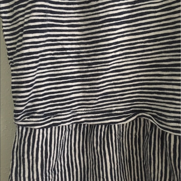 Old Navy Euc Old Navy Peplum Nautical Tank Top Shirt