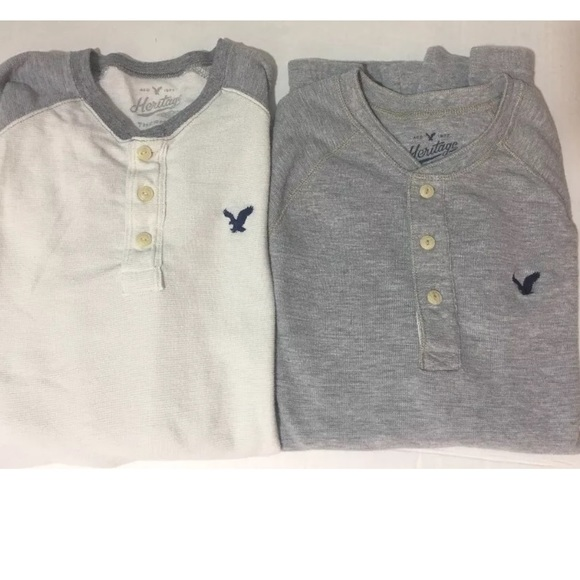5ed0f3bb American Eagle Outfitters Other - Mens American Eagle Heritage Thermal  Henley Shirts