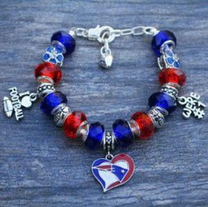 NE Patriots Bracelet, Patriots Jewelry