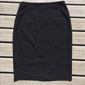 Zara basics black pencil skirt size 6