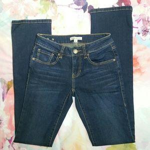 CAbi Dark Wash Straight Leg Jeans