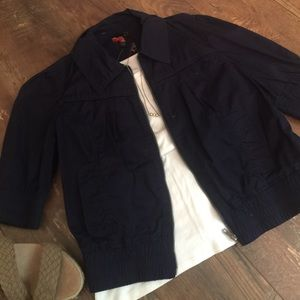NWT Cropped Navy Forever 21 Jacket