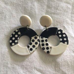 Retro dangly earrings
