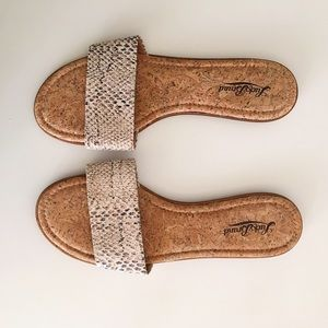 Lucky Brand Shoes - Lucky Brand Snakeskin Slip on Sandal Size 8.5