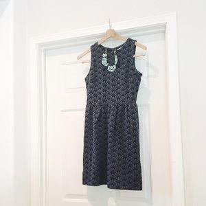 {ann taylor} 🌿 petite mod fan print sheath dress