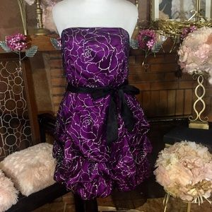 Deb Dresses & Skirts - Deb purple and black toole with silver dress