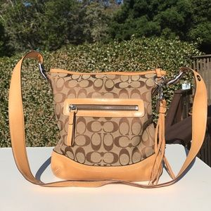Coach Signature Tan 9362 Shoulder Bag