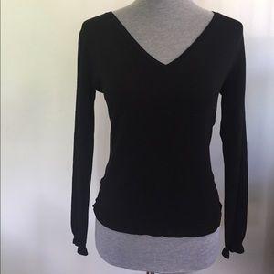 Betsy Johnson Black Knit Sweater Top size L