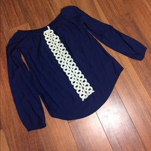 Sage Tops - Navy and Lace Boutique Top