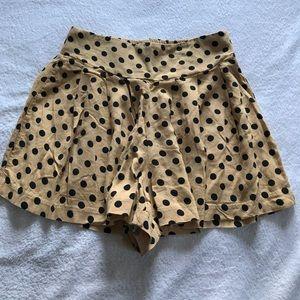 Xhilaration Pants - Xhilaration polka dot shorts.