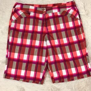 Callaway Pants - Callaway Women's Size 12 Plaid Golf Shorts
