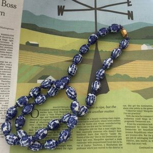 Jewelry - Chinese ceramic or glass necklace