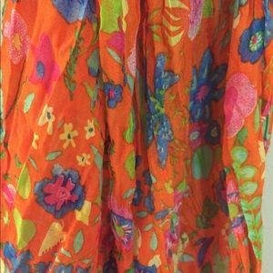 Accessories - Italian Orange Floral Scarf