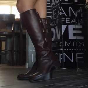 Arturo Chiang Shoes - Arturo Chiang Brown Leather Riding Boots 🐴