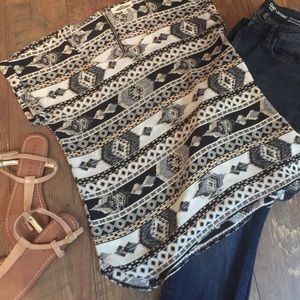 Hippie Rose Tops - Aztec Print Top